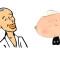 「アニメ大人の一休さん」第1則「クソとお経」より ©︎NHK アニメでは、クソにモザイクがかかっていました。(伊野)