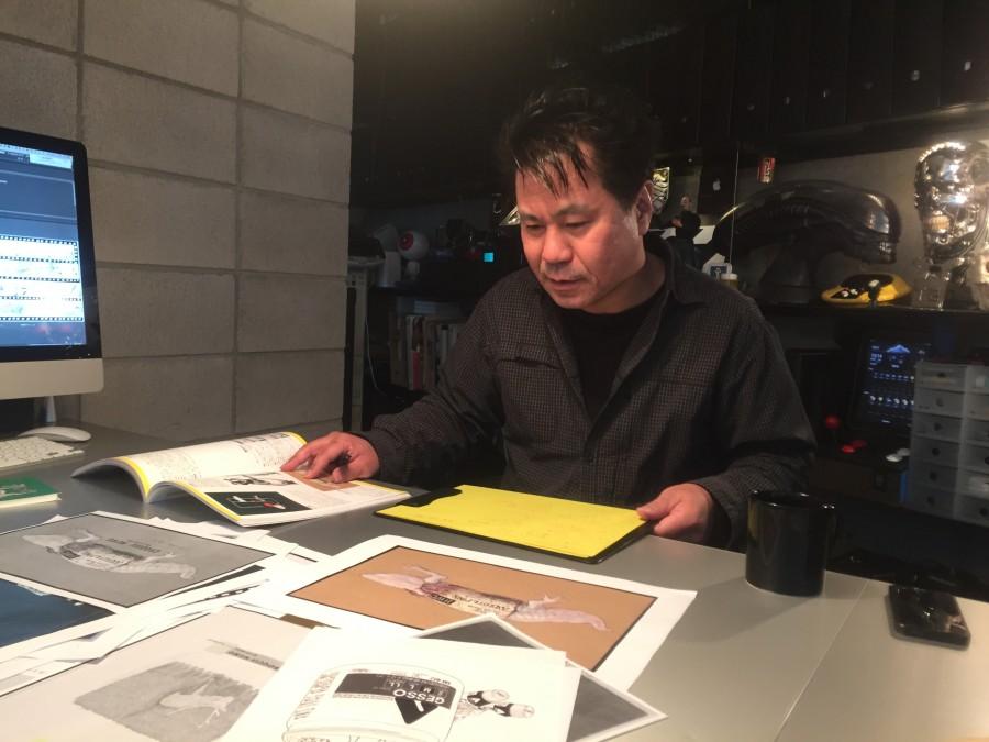 デザイナーの福田真一さん(DEN GRAPHICS)