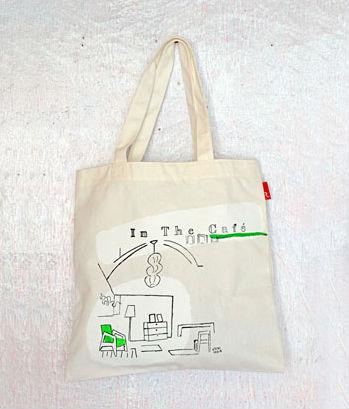 飯田淳さんが今回のワークショップをイメージして描いたトートバッグ