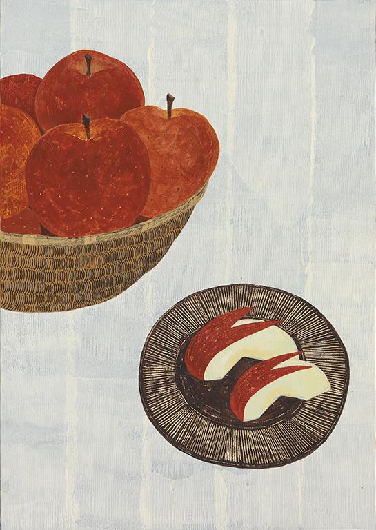 浅野みどり「おやつはりんご」