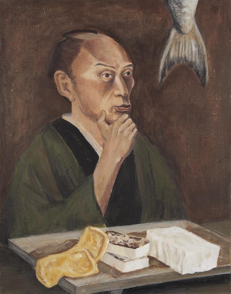 伊野孝行画 「高橋由一の肖像」 『画家の肖像』(ハモニカブックス/2012年)より
