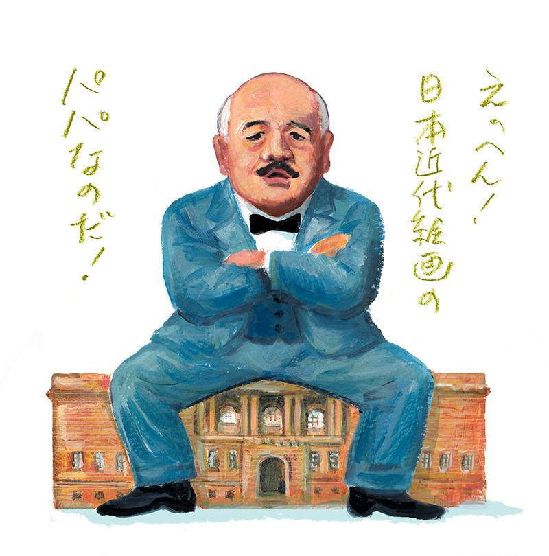伊野孝行画 「黒田清輝の肖像」