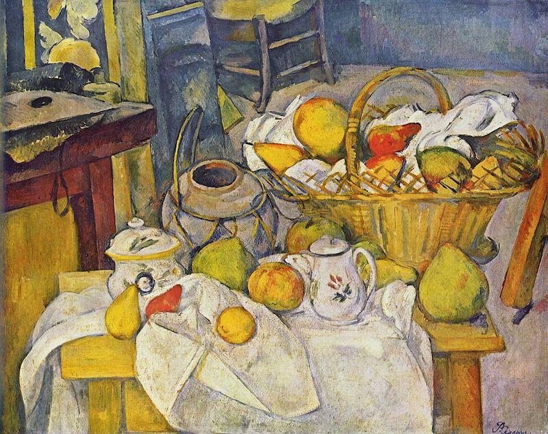 ポール・セザンヌ「果物籠のある静物画」(オルセー美術館所蔵/1888-90年)︎©Musée d'Orsay