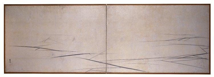 円山応挙「氷図屏風」(大英博物館所蔵/1780年) ©︎The British Museum