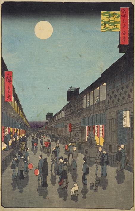 5-1-2名所江戸百景・猿若町の夜
