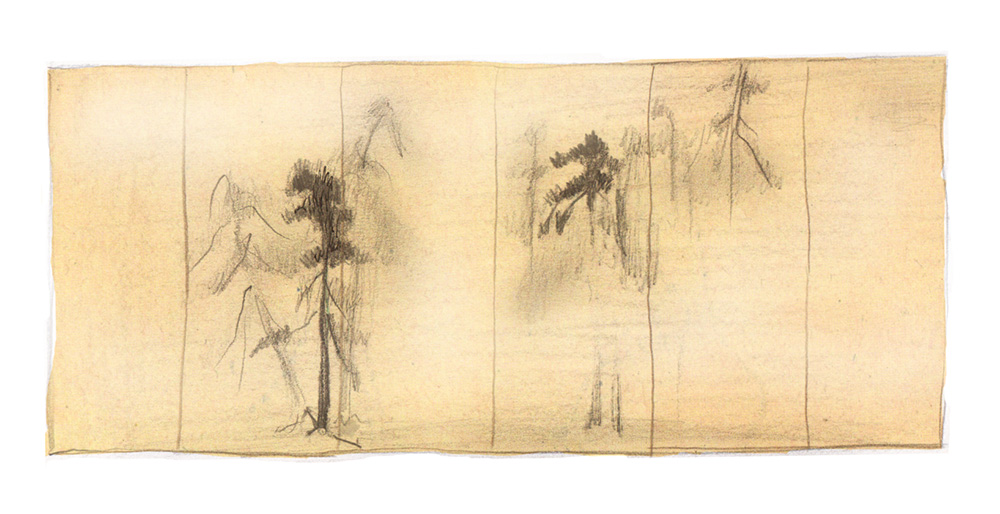 5-1-9松林図屏風模写