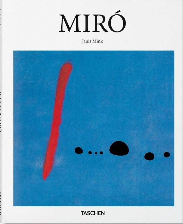 『MIRO』(Janis Mink著/Taschen/2016)表紙 ドイツTaschen社が刊行する現代の巨匠シリーズの1冊。画像はハードカバーで、ペーパーバック版は1993年より刊行(日本語版は2002年)。表紙絵は「BlueⅡ」という1961年の作品。