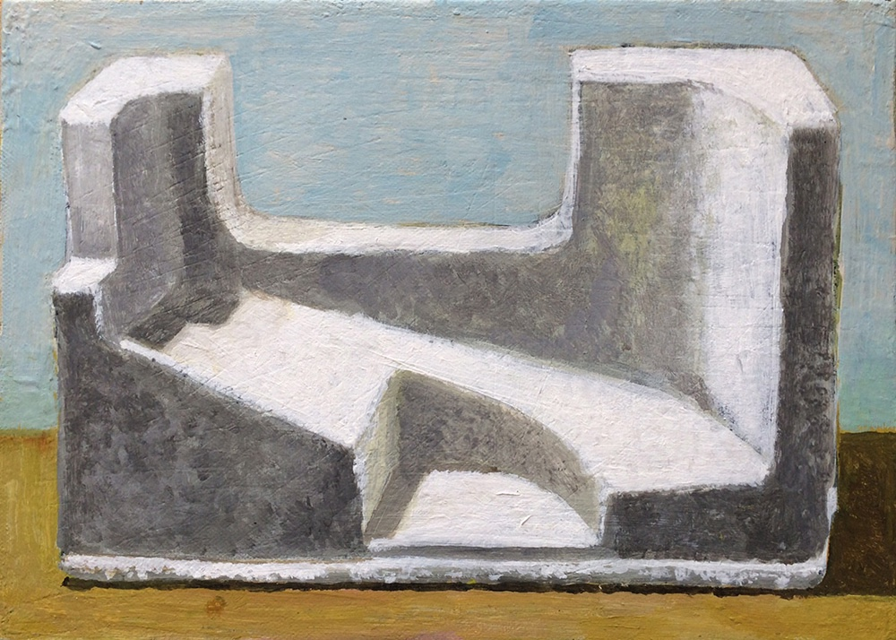 伊野孝行画「隙間を埋めるための発砲スチロールの静物画」(2011)