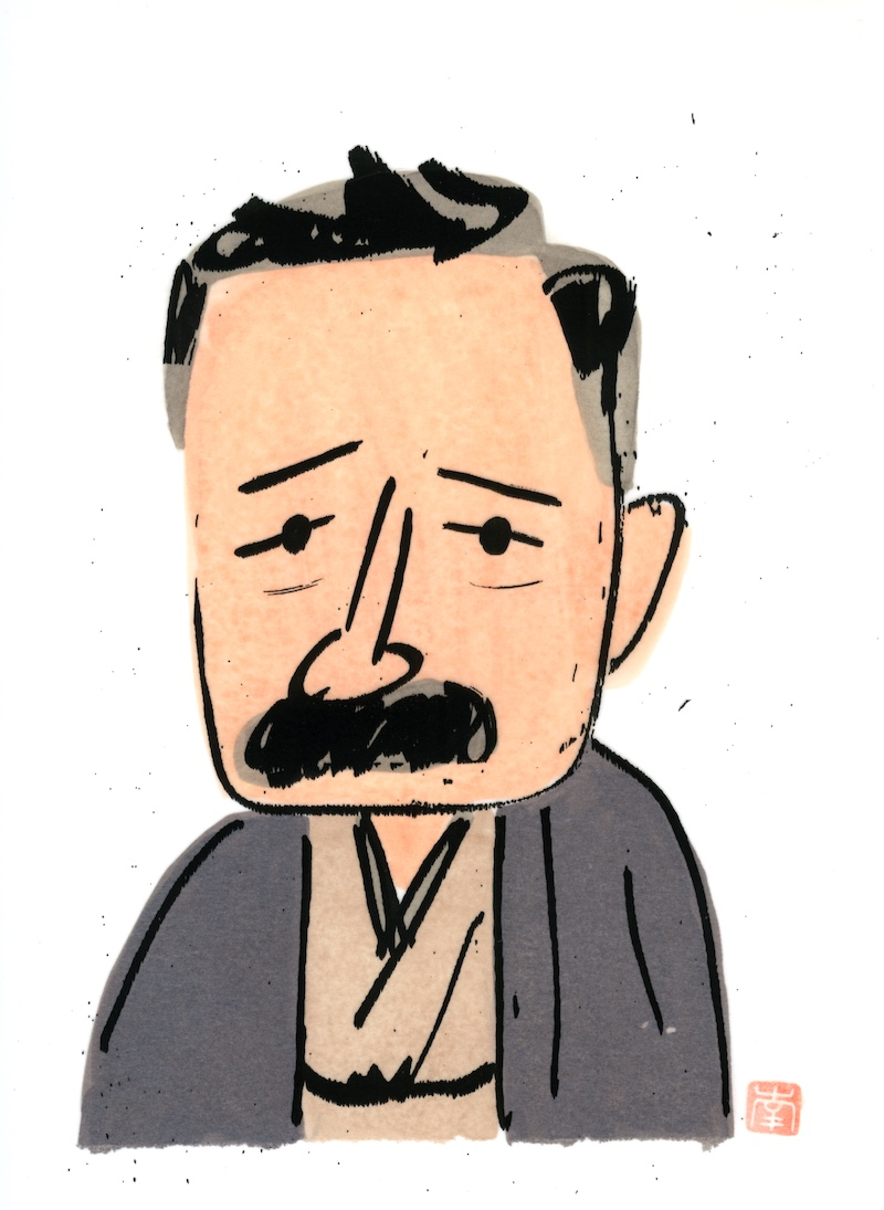 16-1南伸坊画「夏目漱石」