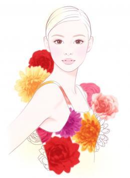 女性イラスト人物イラスト美しい女性イラストきれいやさしい