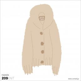 小巻 fashion209knit